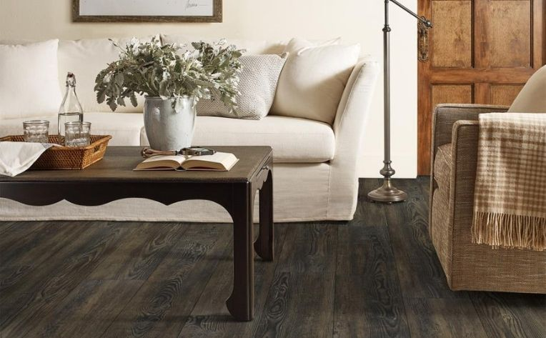 Living Room Low-Maintenance Hardwood Flooring Example