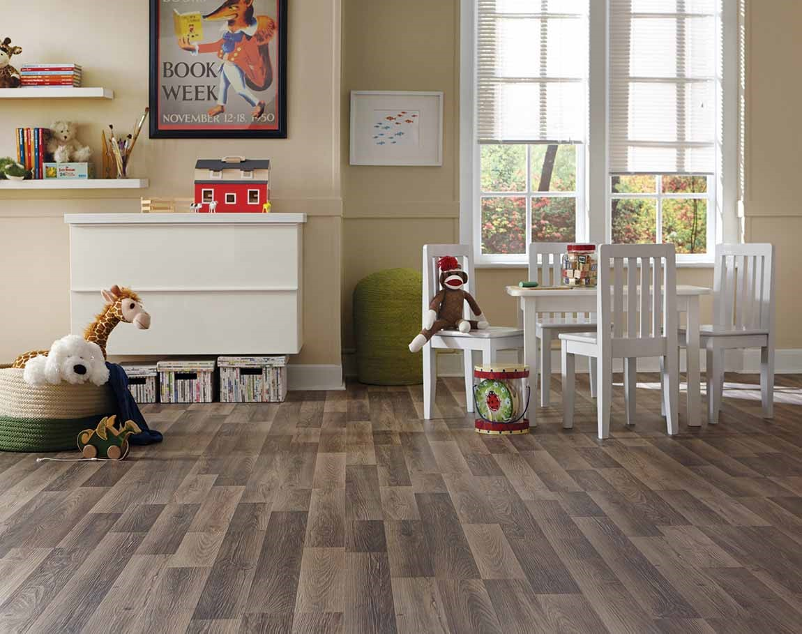 hardwood flooring in kids playroom